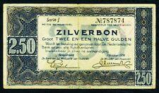 NIEDERLANDE. 2,50 Gulden 1938. P. 62. Serie J.