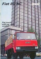 Fiat 80 NC Truck Mid 1970s Original UK Sales Brochure Pub. No. 3683