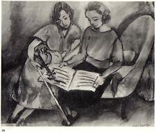 MATISSE SIGNED 1935 LITHOGRAPH w/COA UNIQUE ARTWORK Henri Matisse Print RARE ART