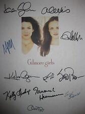 The Gilmore Girls Signed TV Pilot Script X11 Lauren Graham Alexis Bledel reprint