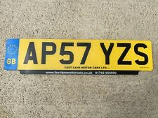 RAER UK GBLICENSE PLATE EURO MINI LAND ROVER RR BENTLEY #AP57YZS Norwich