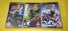 [PSP] Monster Hunter Portable 2nd + 2ndG + 3rd  / 3sets  /TOP-GEAR JAPAN