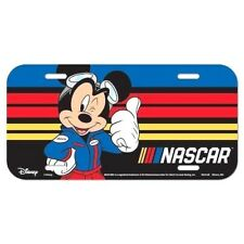 2018 NASCAR DISNEY MICKEY LICENSE PLATE BY WINCRAFT FREE SHIP