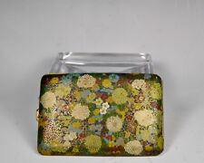 New listing Japanese Faux Cloisonne Cigarette Case Vase Jar With All-Over Chrysanthemum Flow