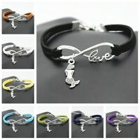 new Fashion Charm Mermaid  Animal Infinity Love woven Bracelet jewelry gift