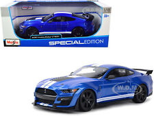 2020 FORD MUSTANG SHELBY GT500 BLUE MET. 1/18 DIECAST MODEL CAR BY MAISTO 31388