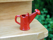 Miniature Dollhouse FAIRY GARDEN Accessories ~ Tiny RED Metal Watering Can ~ NEW