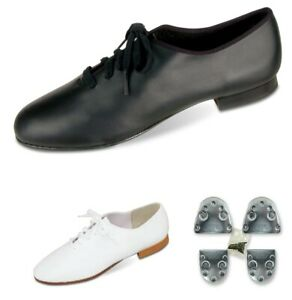Dance Shoes Clogging White/Black LOTS of Sizes CLOSEOUT PRICES Steven Stompers
