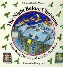 VG 1988 Hardcover Movable Pop UP Night Before Christmas Clement Moore P Ives