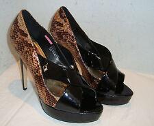New Baby Phat Womens Pavita Black Bronze Patent Heels 8.5 Medium