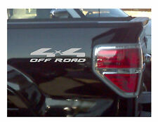 4x4 Truck Bed Decals, Metallic Silver (Set) for Ford F-150 and Super Duty