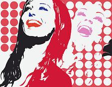 Werner Berges - Twin Sisters - 2004, Pop Art Handsiebdruck auf Vlies - NEU