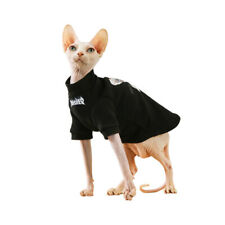 Sphynx Cat Punk Hoodies Winter Clothes Thick Cotton Pet Sweater Pajamas