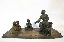 Chotka Orientalist Vienna Bronze cold painted arab children learning (#926)