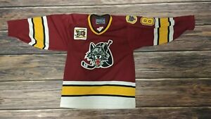 Chicago Wolves Home Bauer Hockey Jersey Men's Size Small Good Condition