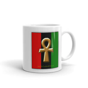 "The True World Order ""Ankh Key of Life"" Mug, Double-Sided Print"