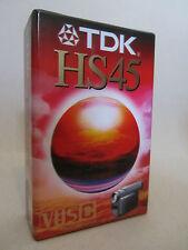 ONE (1x) TDK HS45 VHSC SEALED TAPE EC-45HSEN
