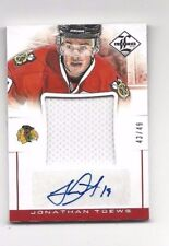 2012-13 jersey hockey card Jonathan Toews autographed Chicago Blackhawks  #43/49