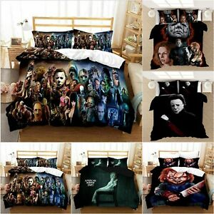 3D Michael Myers Bedding Set Child's Play Chucky Duvet Cover Pillowcase Bed Sets