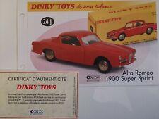 Dinky Toys Atlas - Fascicule + certificat SEULS de l'Alfa Romeo 1900 SS