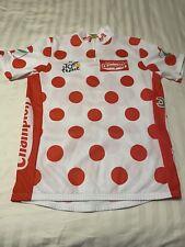 Men's Tour de France Red Polka Dot Cycling Jersey Size L Supermarche Champion