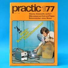 DDR practic 1/1977 Spielplätze Klebstoffe Gartenmöbel Folienzelt Mikroskop N