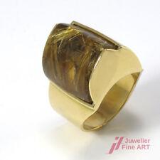 Rutilquarz Ring - feinste Handarbeit in 18K/750 Gelbgold - 18,4 g