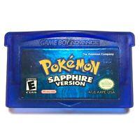 GUARANTEED AUTHENTIC Pokemon Sapphire Version Game Boy Advance GBA NEW BATTERY