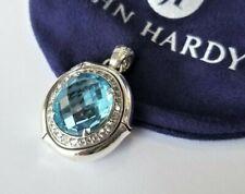 John Hardy Batu Bamboo Sky Blue Topaz White Sapphire Oval Enhancer - Mint! $1100