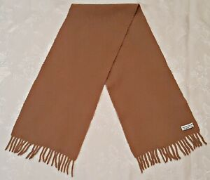 ITALY VINTAGE UNITED COLORS OF BENETTON SOLID BEIGE WOOL LONG MEN'S SCARF