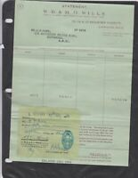 wills imperial tobacco company 1954 receipt ref 12839