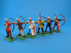 DSG ARGENTINA * CRUSADERS ARCHER/BOWMEN SET 6 STANDING FIGURES * TOY SOLDIERS
