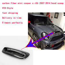 New For Mini Cooper S R56 07-14 VTX Style Hood Scoop Vents (Larger) Carbon Fiber