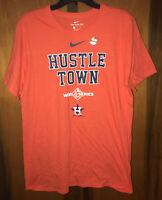 New Nike 2019 Houston Astros Hustle Town World Series Shirt/Orange, Mens. Sz Lar