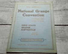 1936 Souvenir Program Ohio State 70th National Grange Convention Columbus Ohio