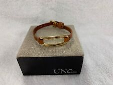 f48fadf01fd8a NEW Uno de 50 Tie Me Bracelet Gold Plated Leather PUL1841OROCAM0M Chain Link