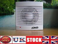 Bathroom Fan 100mm Kitchen Toilet Wet Room Shower Extractor Silent 4""