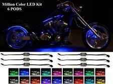 LED MillionColor NEON Glow Performance Lights Pod Kit For All 12v Motorcycles