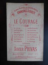 """Partition """"Chansons de révolte - Le courage"""""""