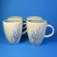 Pfaltzgraff Arborwood SPRUCE Mugs Set of 4 USA Coffee Mug Blue Needles