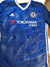 RARE signed Chelsea Shirt - 23 Players Including Terry-Hazard-Costa-Fabregas Etc