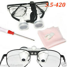 Dental Surgical Medical Binocular Loupes 3.5X 420mm Optical Glass Metal Frame