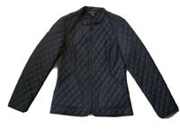 Banana Republic Womens Small Black Quilted Puffer Zip Up Jacket
