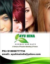 AYU HINA 40gms of 10  Packets heena,black mehendi,henna,Natural hair color,