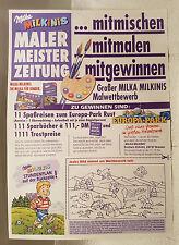 Gewinnspielzettel Milka von 1994. Mit Gewinnspiel für Europa-Park.