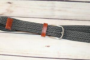 H&M Black & White Plated Belt Size M #BEL3