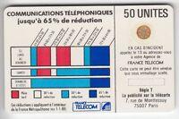 VARIETE TELECARTE CORDON BLANC .. 50U Ko58 SC4OB S/E 6N° IMP+STYLET 712004  C?€