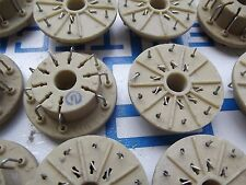 10 X Tube ceramic sockets PL15-1for EL509, 6P45S, 6P36S, 6P44S, 6D22S PCS 10.