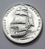 1980 1 Oz.999 Silver Round The International World Trade Unit U.S.S.Constitution