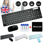 Wireless Keyboard and Mouse Combo Set Ultra Slim 2.4GHz Kit USB Receiver for PC